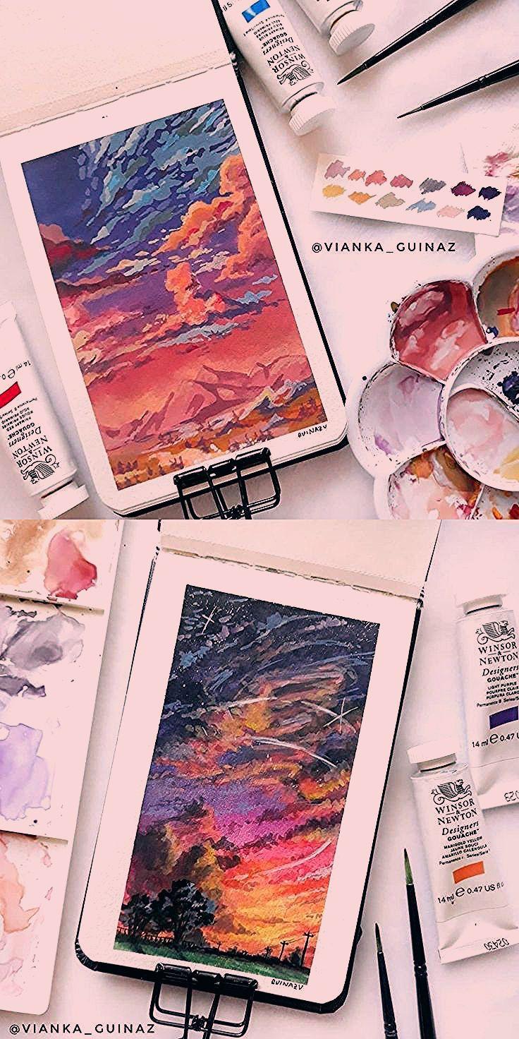 Vianka Guinaz Sur Instagram Art Painting Watercolor Gouache