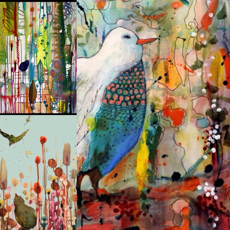 http://society6.com/sylviedemes/prints Colorful birds Prints by Sylvie Demers