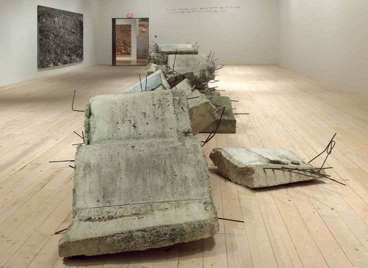 Anselm Kiefer, Etroits sont les Vaisseaux (Narrow Are the Vessels) (2002), installation view.