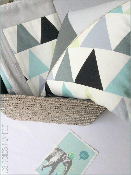 32 best images about geometric sur pinterest scandinavian style coton et m - Coussin design scandinave ...