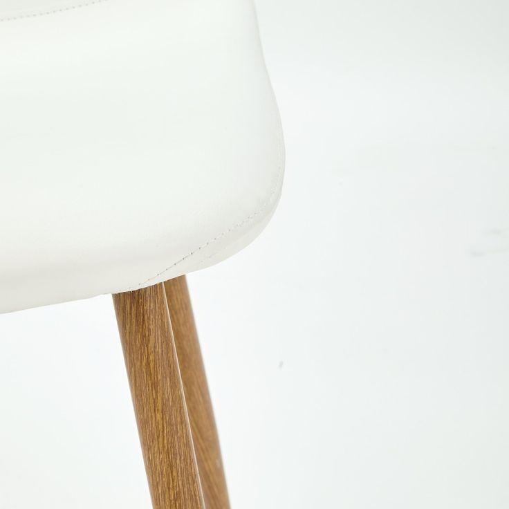 Chaise scandinave blanche   Maisons du Monde