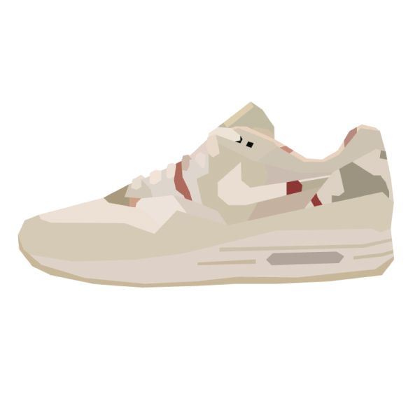 "Illustration of the Nike Air Max 1 SP ""Desert Combat Camo."" #sneakers"