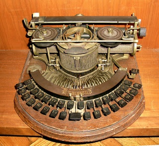 1890s stenographic typewriter used by court reporters. Hello, Dolly prop.
