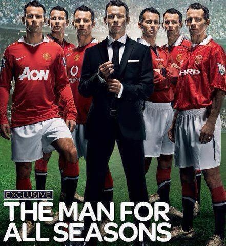 Ryan Giggs....big day for him today. After the Moyes debacle I wish him well.