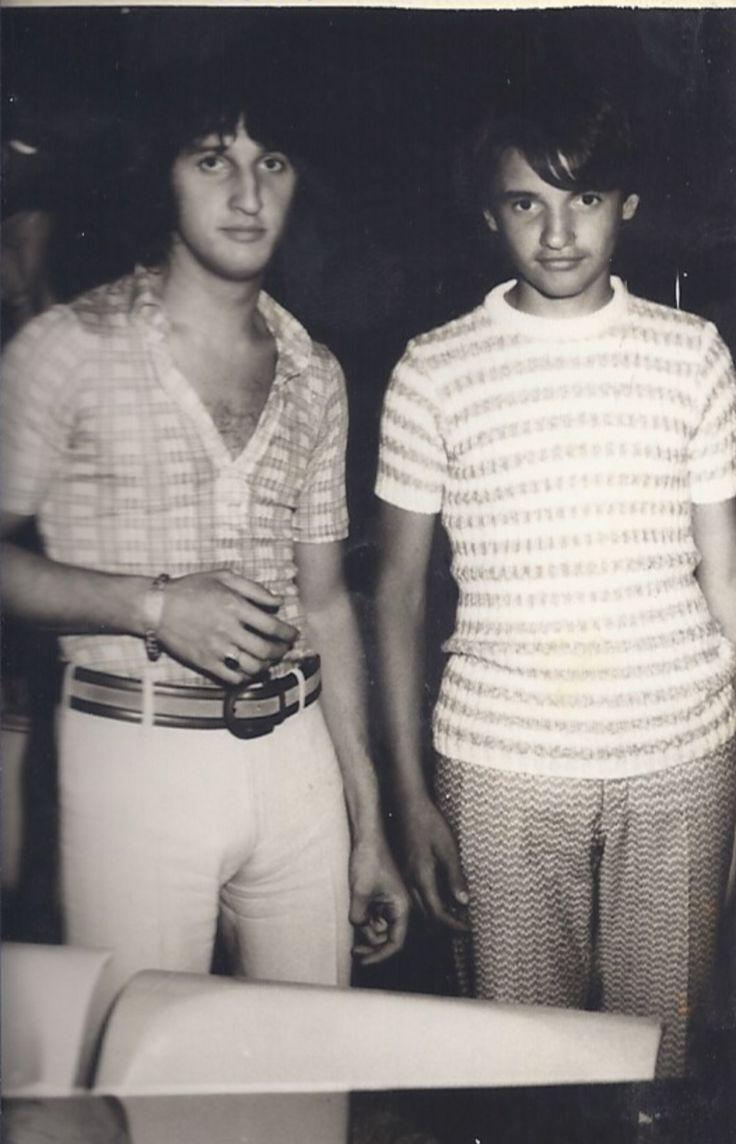 un giovanissimo Lorenzo Piani con Vittorio De Scalzi