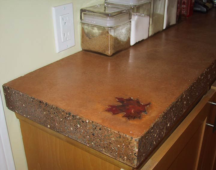 19 best stained concrete countertop ideas images on for Polished concrete kitchen countertops