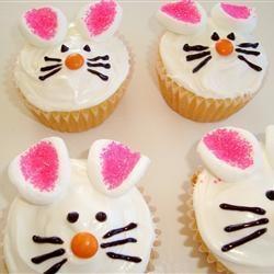 Repinned: #JustForMom Easter Bunny Cupcakes