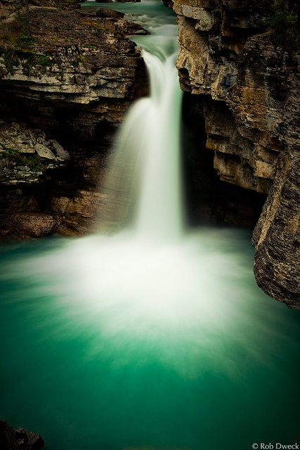 Falls in Beauty Creek by Rob Dweck, via Flickr. Jasper National Park, Alberta, Canada