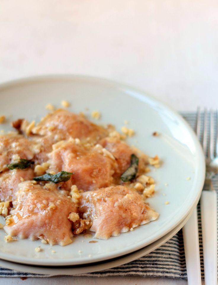 ravioli de calabaza y queso feta - cocinaparaemancipados.com