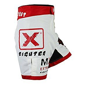 Authentic MET-X Born To Fight Shorts UFC MMA Grappling Short Kick Boxing Mens Muay Thai Pants Gym Wear White Red: Amazon.co.uk: Sports & Outdoors
