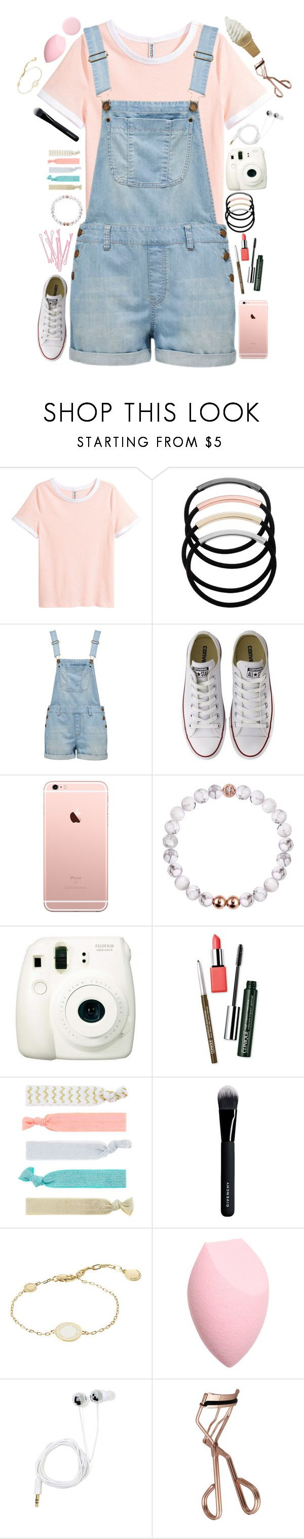 """Spring wya"" by cassieq6929 ❤ liked on Polyvore featuring L. Erickson, Forever New, Converse, BOBBY, Fujifilm, Clinique, Accessorize, Givenchy, Marc Jacobs and Tweezerman"