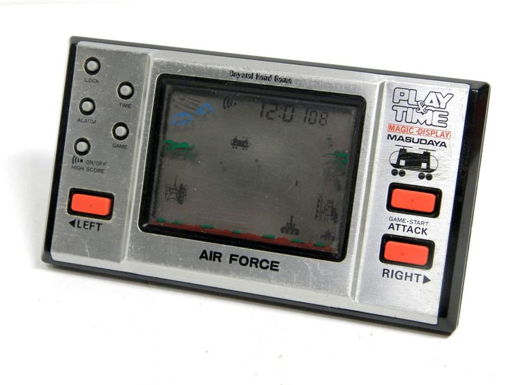 80s Retro Masudaya LCD Game Watch Play & Time Air Force MIJ 1982 Good Condition #Masudaya
