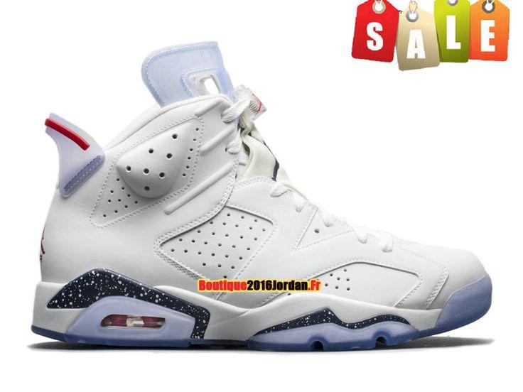 Air Jordan 6/VI Retro GS ´First Championship´ - Baskets Jordan Pas Cher Chaussure Pour Femme/Enfant Blanc384665-iD5