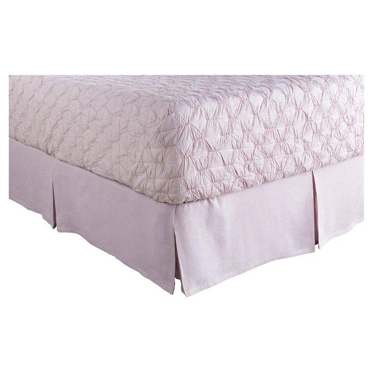 Bilzen Luxury Bedding Skirt (King/King CA) Lilac (Purple) - Surya