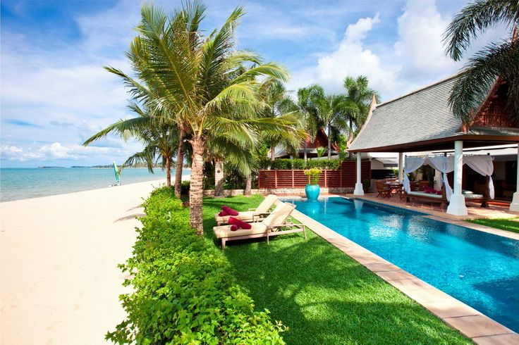 Beachfront Paradise for a luxury family holiday in Koh Samui. #kohsamui #luxury #villagetaways #bophut #oceanfrontvilla #familygetaways