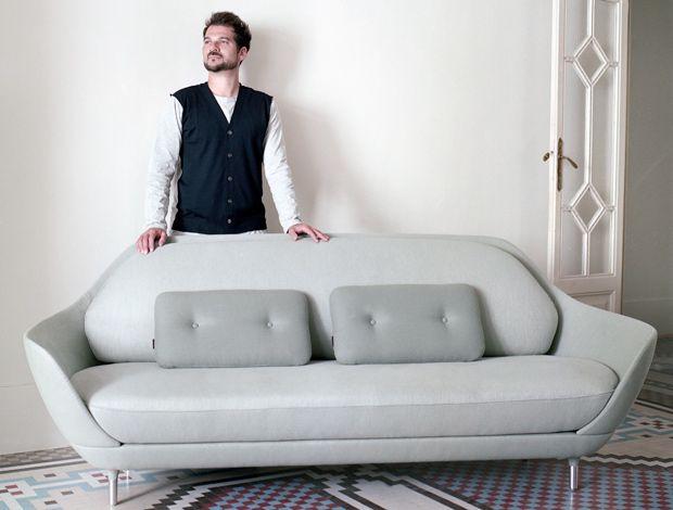 Beautiful lines and soft shades of grey: sofa by  designer Jaime Hayon.