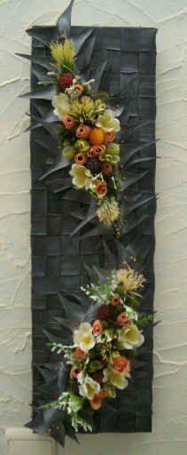 Plaat met bloemen met uitleg ((fiets-en-autobanden))