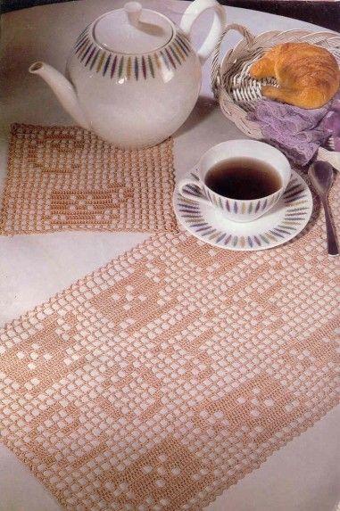 27 best images about haken placemats on pinterest - Set de table crochet ...