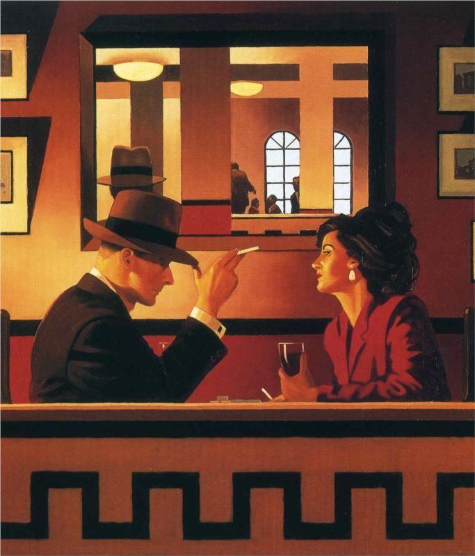 The Man in the Mirror~Jack Vettriano