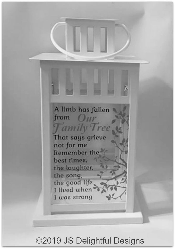 A limb has fallen from our family tree sympathy gift