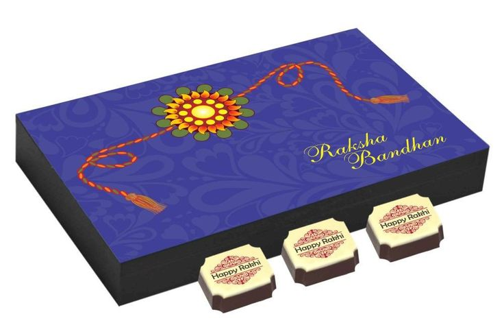 Rakhi gifts - 12 Chocolate Gift Box - Rakhi festival gifts with Rakhi