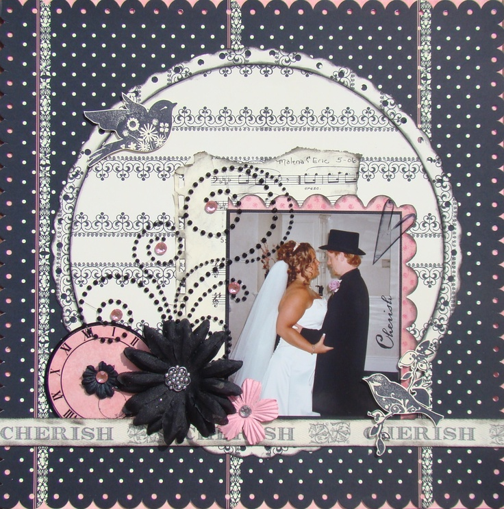 254 best wedding scrapbook layouts images on Pinterest | Wedding ...