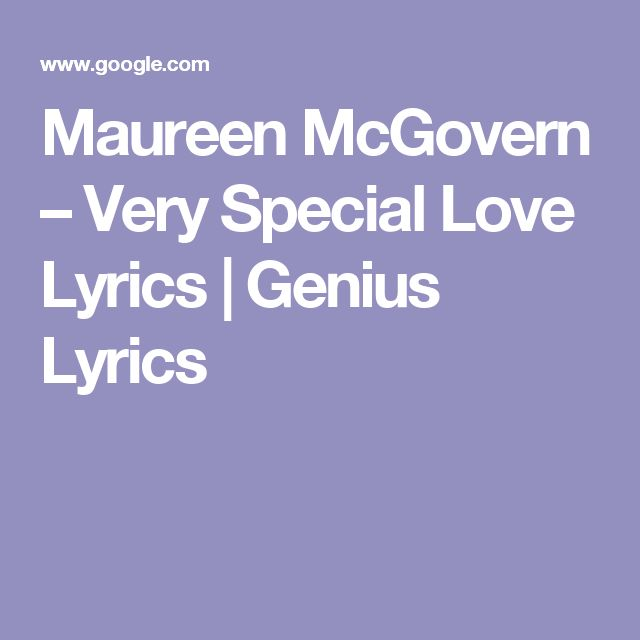 LANI MISALUCHA - VERY SPECIAL LOVE LYRICS