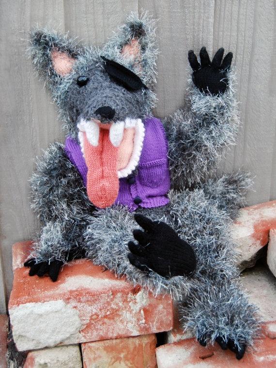 Wolf Knitting Pattern : The Big Bad Wolf pdf knitting pattern by TheatreOfYarns on Etsy, USD7.00 Wolv...