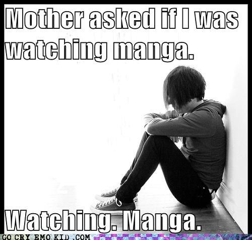 NOT insinuating anything about my mother personally, because I really don't care if she knows what manga is.  But this is hilarious.