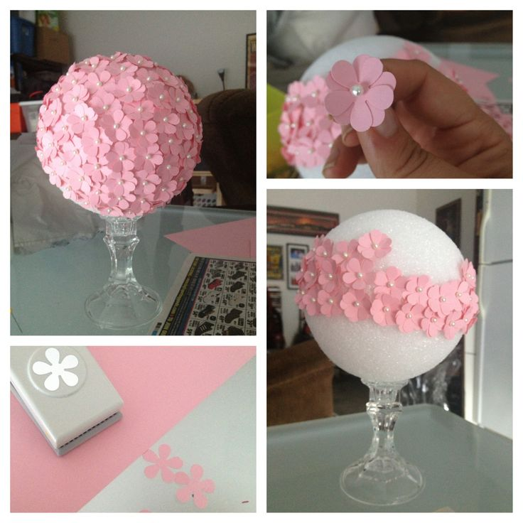 """These are the center arrangements that I'm making for my best friends baby shower... I think they are cute and they scream """"it's a girl""""... I'm so excited"""