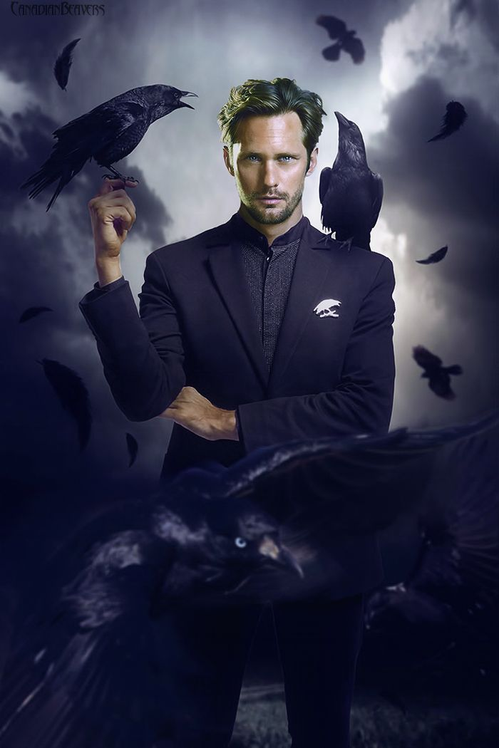 Oh Alex!! and Ravens!  Dark and brooding and oh so sexy!