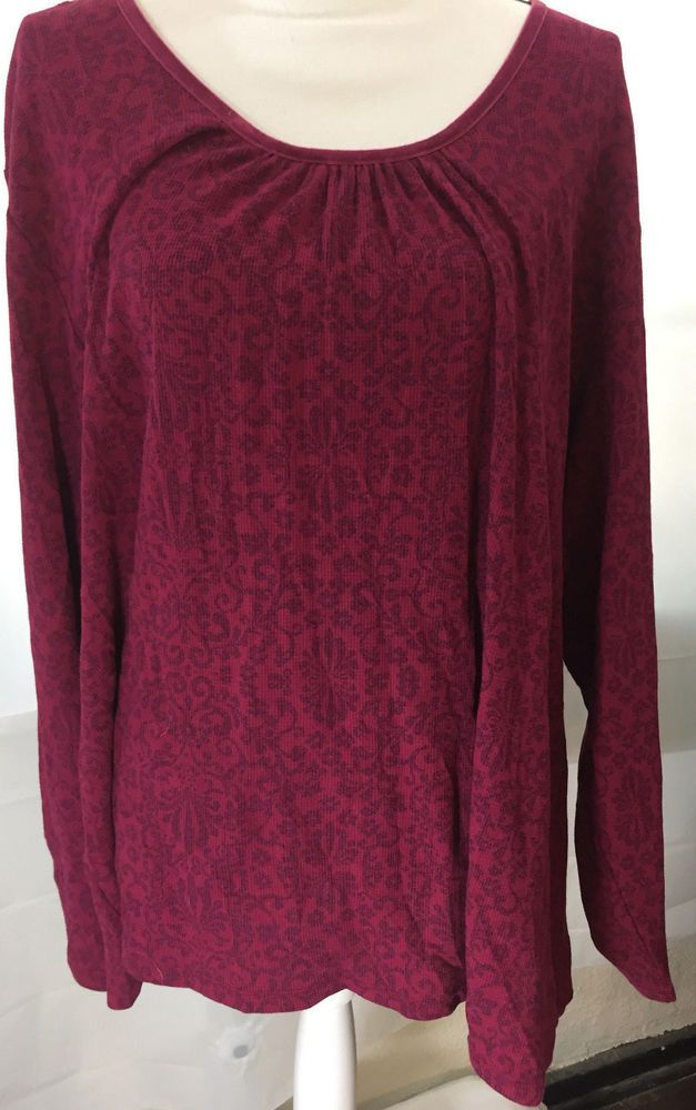 097d43ffaae Womens Plus Size 5X 30W 32W Red Top by JMS Just My Size Long Sleeve Shirt  Blouse #JustMySize #Blouse