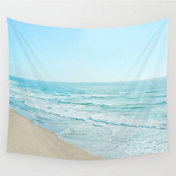 Wall Tapestry Ocean Beach Serene Calming Sea by SusansPrintShop