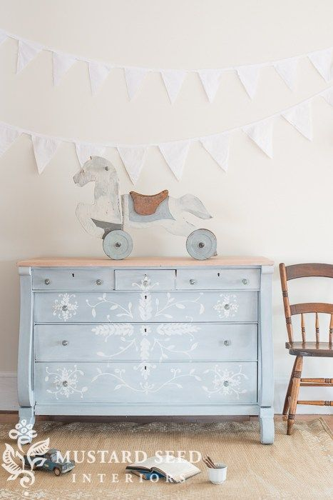 hand painted empire buffet | miss mustard seed