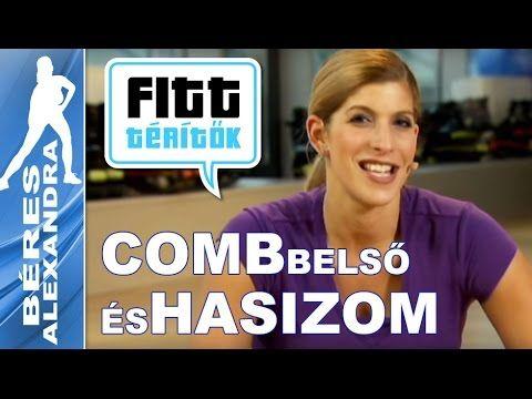 Béres Alexandra - Farizom és combizom edzése (Fitt-térítők sorozat) - YouTube