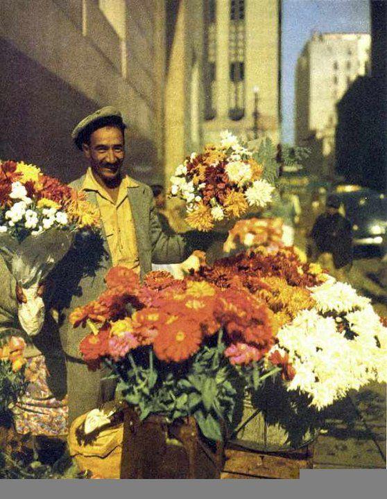 A flower seller lower Parliament street 1951.