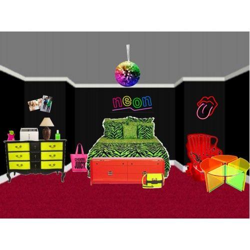 Neon Room Decor Teen Bedroom Ideas Pinterest