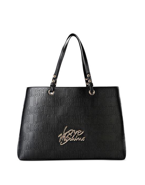 Borsa Shopper firmata Love Moschino con Tasca interna a Zip e logo dorato stilizzato e doppio manico. Bellissima borsa che si presta a numerose situazioni casual ed eleganti.  Disponibile nei Colori: Blu.