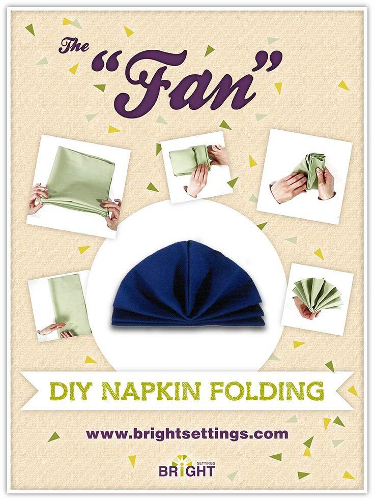 Napkin Folding Instructions for the Fan Napkin Fold