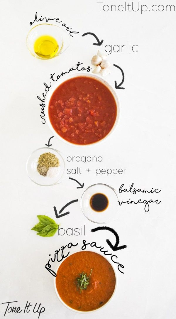 Tone It Up healthy pizza sauce recipe