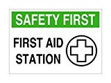 "Imprint 360 AS-10037V Vinyl ADHESIVE Workplace Safety First Aid Station Sign- 7"" x 10"", White / Green / Black Imprint 360 your #1 source for quality business products specializing in stamps and signs http://thehomeofficesupplies.com/imprint-360-as-10037v-vinyl-adhesive-workplace-safety-first-aid-station-sign-7-x-10-white-green-black/"