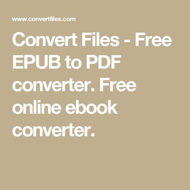 best way to convert pdf to epub