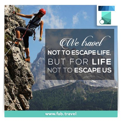 "Some people are just trying to ""escape life."" The general opinion is that #traveling is something everyone should do. #Enjoy #Life"