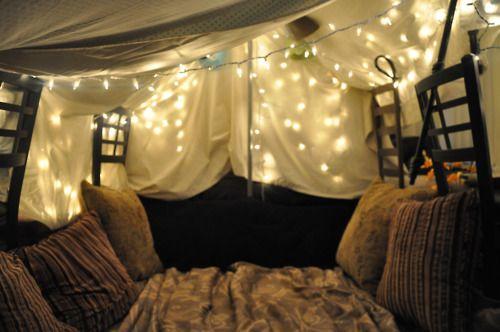 Adult blanket forts.  (Photo set).