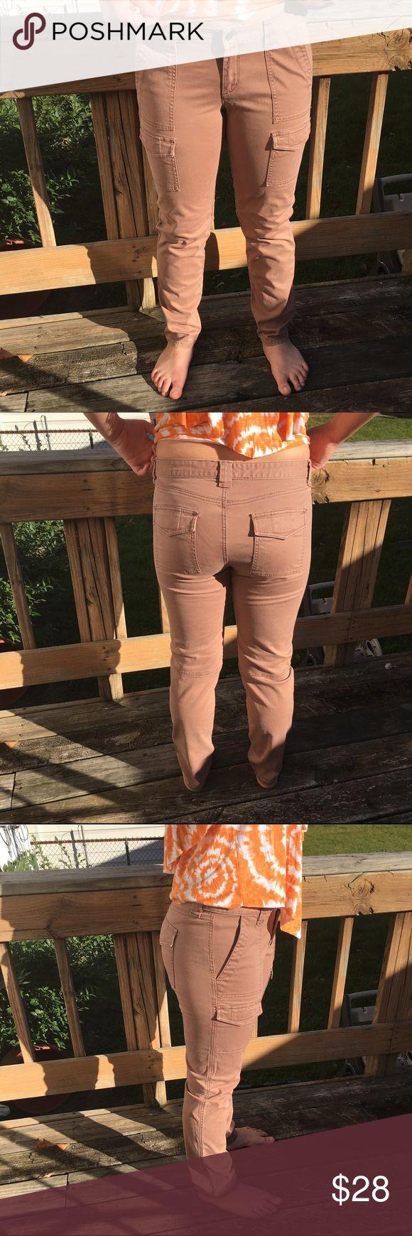 Loft Cargo Jeans! EUC! Gorgeous tan color! Size 10. Model is a size 8/10 64.75 inches tall. Excellent condition! LOFT Jeans Straight Leg