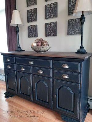 furniture design ideas featuring lamp black milk paint and black rh pinterest com