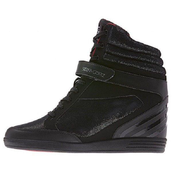 Women Adidas Selena Gomez Neo Super Wedge Hi F38077 Black Black 100%  Authentic e011e108361dd
