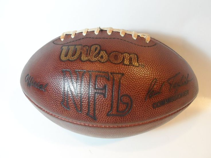 VINTAGE Wilson Leather NFL Paul Tagliabue Commissioner- Official Game Football  #Wilson
