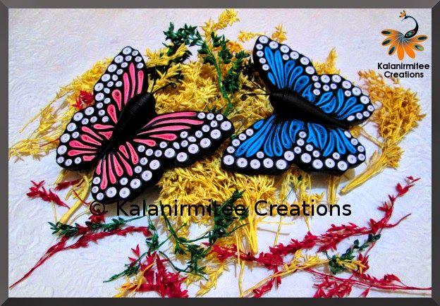 Quilled Butterflies.... - Visit http://www.kalanirmitee.com