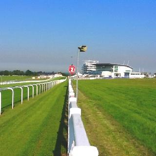 The beautiful Epsom Downs Racecourse.